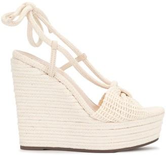 Schutz Woven Wedge Sandals