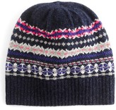J.Crew Women's Fair Isle Merino Wool Hat - Blue