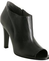 black leather 'Sacha' peep toe ankle boots