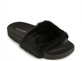 Steve Madden Softey - Fur Pool Slide