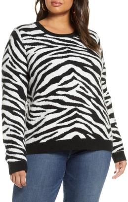 Halogen Zebra Sweater