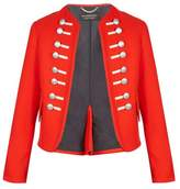 BURBERRY Button-embellished wool military jacket