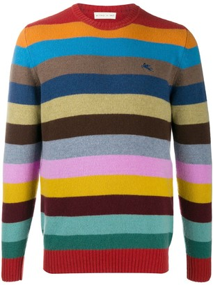 Etro Colour-Block Stripe Jumper