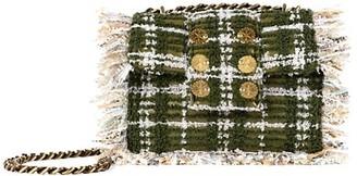 Kooreloo Petite Pillow Fringe Tweed Shoulder Bag