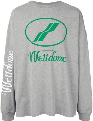 we11done logo print T-shirt