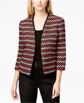 Kasper Chevron-Print Tweed Blazer