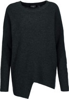 Magaschoni Asymmetric ribbed wool and cashmere-blend sweater