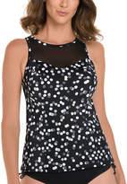 Trimshaper Dots Tankini Swimsuit Top