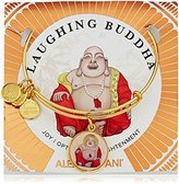 Alex and Ani Saints and Sages, Laughing Buddha Shiny Gold Bangle Bracelet