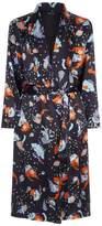 Meng Silk Floral Print Robe