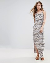 Vero Moda Printed Belted Maxi Dress