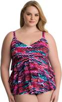 Croft & Barrow Plus Size Hip Minimizer Tiered D-Cup Swimsuit