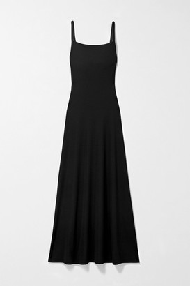 CHRISTOPHER ESBER Cutout Ribbed Stretch-knit Maxi Dress - Black