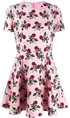 Valentino floral print skater dress