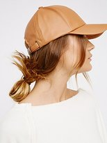 Free People Gramercy Vegan Leather Baseball Hat