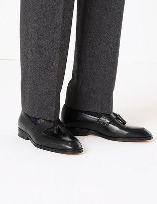 Marks and Spencer Leather Saddle Tassel Loafers