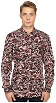 Just Cavalli Slim Fit Swallow Print Shirt Men's Clothing