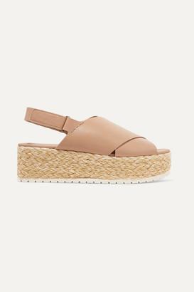 Vince Jesson Leather Espadrille Platform Sandals - Neutral