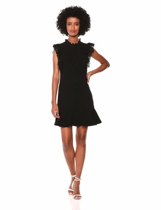Rebecca Taylor Women's Sleeveless Ruffle Suit Dress