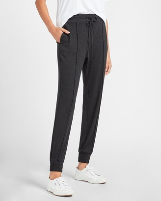 Express High Waisted Marled Pintuck Jogger Pant