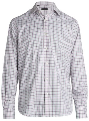 Saks Fifth Avenue COLLECTION Plaid Woven Button-Down Shirt