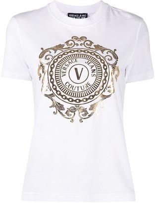 Versace Jeans Couture logo print crew-neck T-shirt