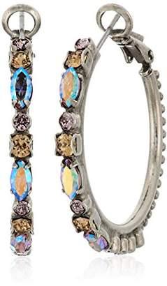 Sorrelli Mirage Crystal Adorned Hoop Earrings