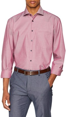 Seidensticker Men's Comfort Langarm mit Kent-Kragen Bugelfrei uni Business Shirt