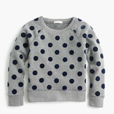 J.Crew Girls' polka-dot sweatshirt