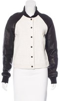 A.L.C. Leather-Accented Bomber Jacket