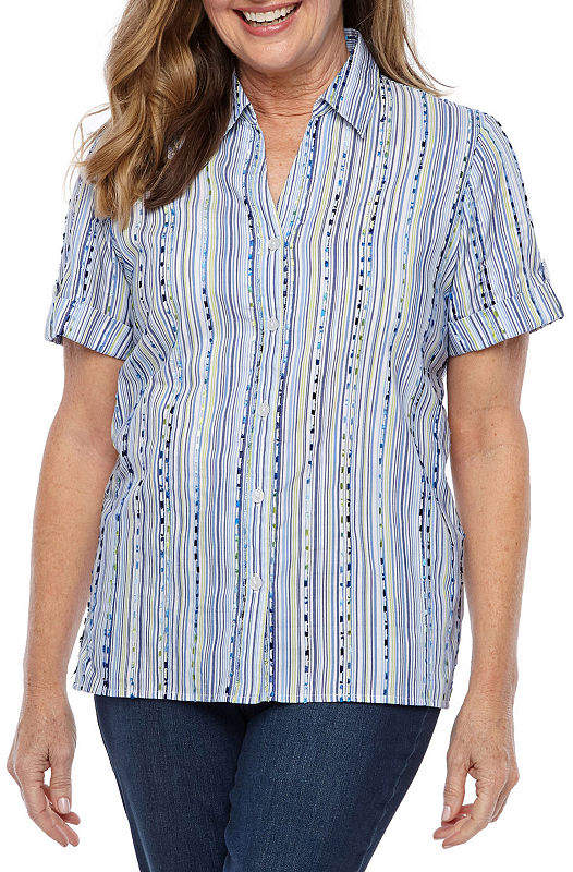 20a1eae4 Alfred Dunner Women's Shortsleeve Tops - ShopStyle