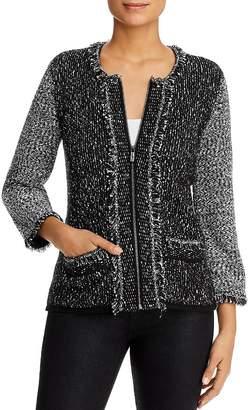 Karl Lagerfeld Paris Zip Sweater Jacket