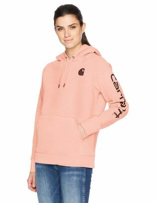 Carhartt Women's Plus Size Clarksburg Graphic Sleeve Pullover Sweatshirt