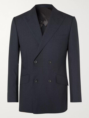Kingsman Arthur Harrison Double-Breasted Wool Suit Jacket - Men - Blue