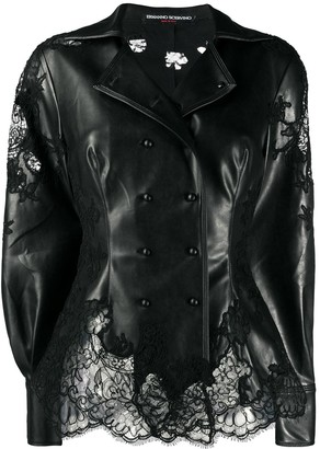 Ermanno Scervino Lace-Insert Riding Jacket