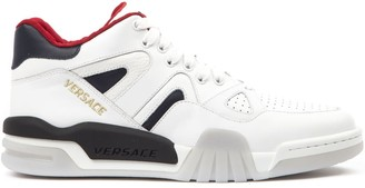 Versace White Leather Sneaker