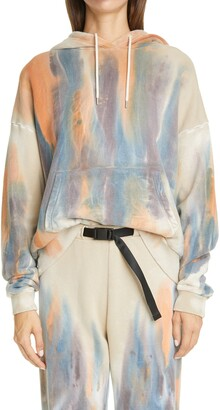 John Elliott Alma Volcano Dye Cotton Hoodie
