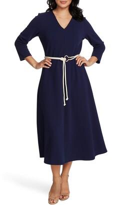 Chaus Rope Belt A-Line Dress