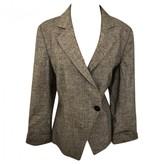 Armani Collezioni Grey Linen Jacket for Women