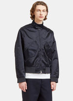 Acne Studios Men's Mito Technical Satin Patch Pocket Jacket In Navy
