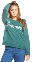Chaser L/S Crew Neck I Heart Campin Camp XS Womens Shirt