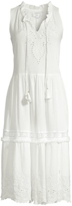 Johnny Was Ziva Sleeveless Crinkle Gauze Dress