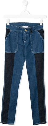 Chloé Kids TEEN two tone denim jeans