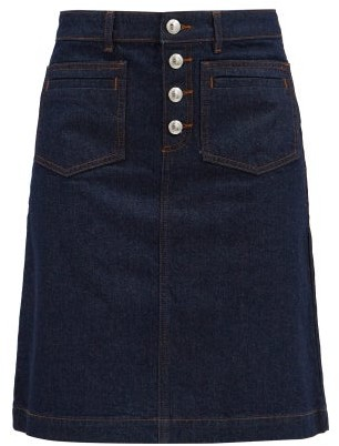 A.P.C. Michelle Denim Mini Skirt - Denim