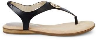 Anne Klein Logo Slingback Sandals