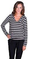 Velvet by Graham & Spencer Women's Cozy Jersey Stripe Hoodie