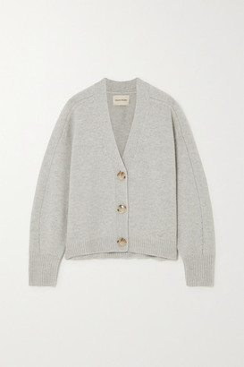 LOULOU STUDIO Zanzibar Melange Wool And Cashmere-blend Cardigan - Gray