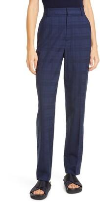 Co Check Wool & Silk Pants