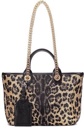 Dolce & Gabbana Kendra leopard jacquard shopper