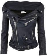 Faith Connexion Off Shoulder Biker Jacket